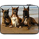 Snoogg Dog'S Make Friends 12 To 12.6 Inch Laptop Netbook Notebook Slipcase Sleeve