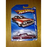 Hot Wheels 2010-161 RED 64 Chevy Impala #03/10 Hot Auction 1:64 Scale
