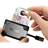 Rocketek DOD Military USB Smart Card Reader / CAC Common Access Card Reader Writer For SD/SDHC/SDXC/MMC, MS(3...