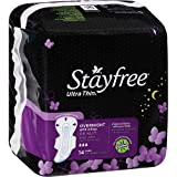 Stayfree Ultra Thin Overnight With Wings Thermo Control 14 Count - Pack Of 4