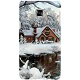 For Samsung Galaxy C5 Beautiful Home ( Beautiful Home, Ice, River, Ice Home, Tree, Beautiful Ice, Winter ) Printed Designer Back Case Cover By FashionCops