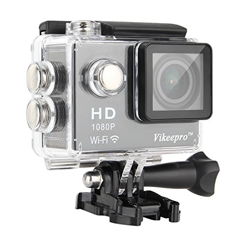 Vikeepro Action Camera 2.0 Inch Full HD 1080p 30fps Sports Camera With 170 Degree Ultra-wide Angle Lens Wi-Fi...