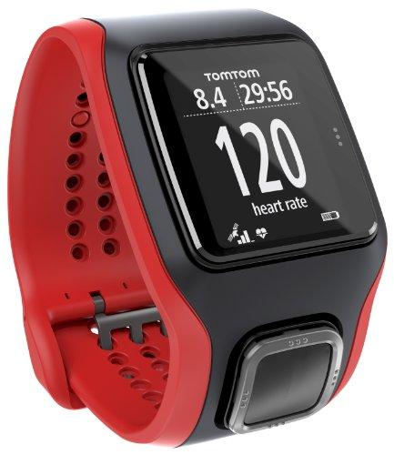 TomTom Runner Cardio- Reloj GPS para running , rojo y negro