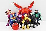 8pcs/set Baymax Figures Fred Tomago Honey Lemon Wasabi Cartoon Model Toys Assembly Toy Compatible Action Toy Figures