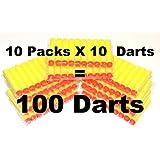 100-dart Refill Set For Nerf N-strike Elite, 100-dart Lot, Refill In Bulk: Yellow Darts 100 Pack For