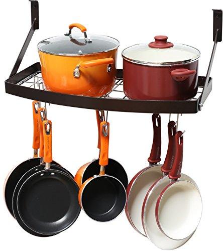 Pot Pan Organizer Rack Shelf Hanging Cookware Holder Wall