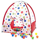 "Classic Polka Dot Stick Play Tent W/ Safety Meshing For Child Visibility & 200 ""Phthalate Free"" Crus"