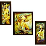 3 PIECE SET OF FRAMED WALL HANGING ART - B01GA5WZ5Q