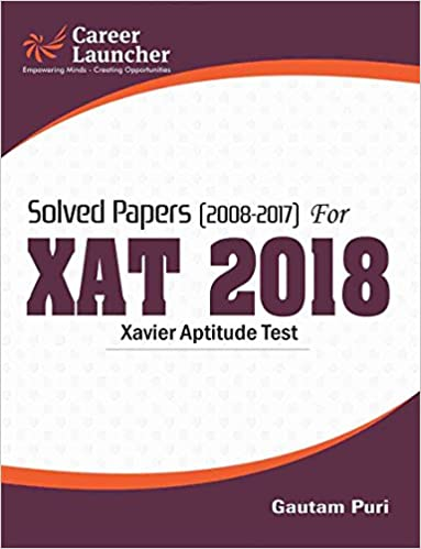 XAT (Solved Papers 2008-2017) 2018 -Book- GKP