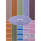 Shopaholic A4 Size Woody Paper Pack- 10 Designs 30 Sheets - Craft Paper For Card And Scrap Booking -WYA4+30- Set...