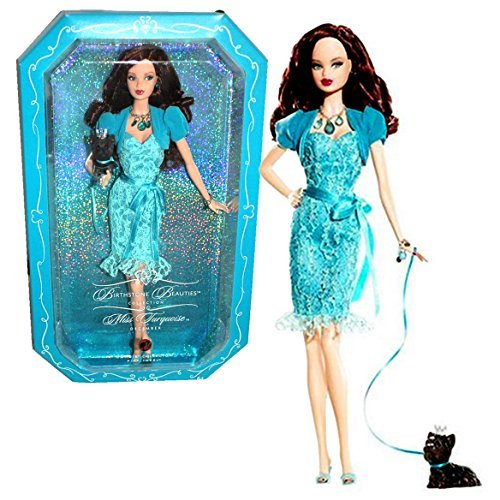 Mattel Year 2007 Barbie Pink Label Birthstone Beauties Collection Series 12 Inch Doll - Miss Turquoi