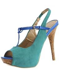 Tresmode Women's Kcool Blue Fashion Sandal