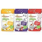 Happy Baby Organic Yogis Freeze Dried Yogurt And Fruit Snack 6 Piece Variety Pack