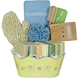 Soap Time Luxury French Shea Butter Soap Spa Gift Basket With 7 Different Soaps