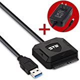 Sunshine-tipway® USB 3.0 To Sata Converter Adapter Cable For 2.5 Inch / 3.5 Inch Sata Hard Drive HDD SSD (2.5...