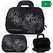 Lightweight Full Protection Laptop Bag With Carrying Handles And Shoulder Strap Black Universal Fit For Apple...