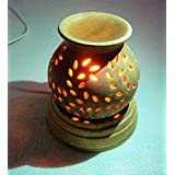 Pure Source India Electric Aroma Burner Antique Finish Doted Light Brown Color With 10 ML Aroma Oil Relaxing Coming Free With This Electric Diffuser, As In Picture .