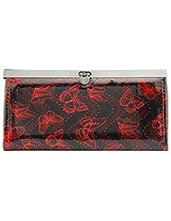 Aadaana Women's Wallet (Black And Red, ADLW-41)