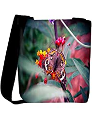 Snoogg Abstract Unique Butterfly Designer Womens Carry Around Cross Body Tote Handbag Sling Bags