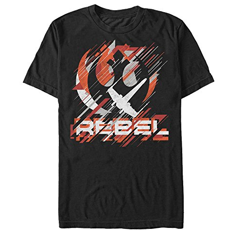 Star Wars Rogue One Rebel Crest Streaks Mens Graphic T-Shirt