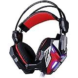 KOTION EACH G3100 HiFi Over-ear Vibration Game Headset Earphone Headband Gaming Headphone With Mic Deep Bass LED...