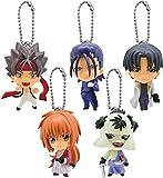 Rurouni Kenshin Mini Figure - 5pcs Set [w/ Mini Items 1pcs]