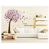 Oren Empower Peach Tree Decorative Removable Waterproof Large Wall Sticker