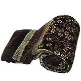 Jaipur RagaJaipuri Floral Brown Double Bed Velvet Quilt Brown Double Bed Razai