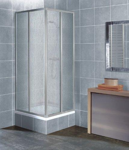 Beliebt Eckeinstieg Duschkabine aus Kunststoffglas mit Tropfendekor im Test AU22