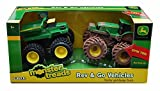 Rev & Go Tractor and Dump Truck Set, Green - Tomy ERTL Monster Treads 46198A