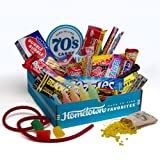 Hometown Favorites 1970's Nostalgic Candy Gift Box, Retro 70's Candy