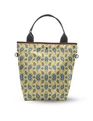 Atrangee Blue Rhapsody Tall Tote Bag (Blue & Brown)