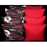 BackYardGamesUSA CORNHOLE BEAN BAGS Made W ARIZONA CARDINALS Fabric On Both Sides Of Logo Bags