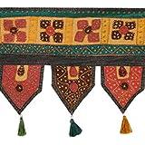 Elegant Toran Black Cotton Floral Patch Work Toran For Décor By Rajrang
