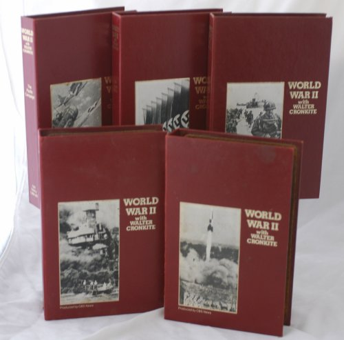 Set of 5 VHS - CBS Library - WORLD WAR II with Walter Cronkite - Air War Over Europe / Invasion The Allies Attack / The Seeds of War / The Pacific Campaign / The Pacific War Begins - VHS Tapes