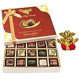 Diwali Gifts - Yummy Treat Of 20pc All Pralines Chocolate Box With Small Ganesha Idol - Chocholik Belgium Chocolates