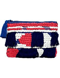 Diwaah Beautifully Handcrafted Casual Cotton Multi Color Zip Top Pouch With Zip (DWH000000820)