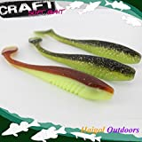 Generic Lilac Glitter : 5 Inch 4 Pcs Soft Bait For Trout And Pike Fishing--big Paddle Tail Soft Lure Shad Lure
