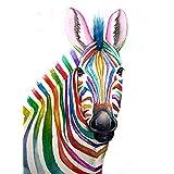 Tallenge Art For Kids - Rainbow Zebra - A3 Size Rolled Poster For Kids Room Decor