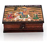 Indiangiftemporium Wooden Hand Painted Dhola Maru Jewellery Box 330