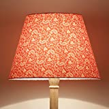 Craftter Traditional KERI DESIGN ORANGE Color FABRIC FLOOR Lamp Shade (CWFLS-18)