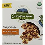 Cascadian Farms Organic, Oats And Honey Granola, 5 To-Go Pouches (Pack Of 2)