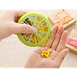 Cubee Best Automatic Pocket Push N Rotating 7 Day Medicine Pill Box With Tray, Medication Organizer Planner -...