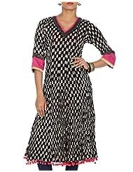 Rajrang Women Printed Tops Tunic Long Kurti Size M - B00OFYLUFQ