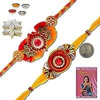 Little India MR304KK Ethnic Design Stylish Handcrafted Mauli Rakhi Gift Rakhi Raksha Bandhan Gift Band Moli Bracelet...