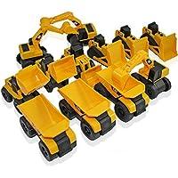 Toy State Cat Caterpillar Construction Toys Mini Machine Set Of 12 Assorted Dump Truck, Bulldozer, Wheel Loader...