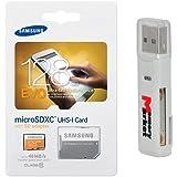 Samsung Evo 128GB MicroSD XC Ultra UHS-1 Class 10 Memory Card For Samsung Galaxy Tab A E S2 9.7 8.0 Inch A8 J5 Xcover 3 J1 Core Prime Note Edge 4 With MemoryMarket MicroSD & SD Memory Card Reader