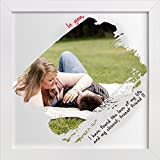 ArtzFolio Eternal Love - Small Size 12.0 Inch X 12.0 Inch - FRAMED PERSONALIZED & CUSTOMIZED PHOTO COLLAGES GIFT... - B01ERZLFHU