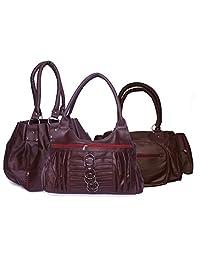 H&H Women Combo Pretty + Magnificent + Allure Hand Bag - Maroon