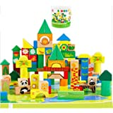 118 Forest Animal Scene Blocks Childrens Building Wooden Blocks Piled Tower - The Best Educational T